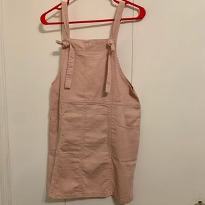 Pink overall dress